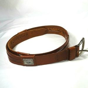 Fossil Leather Belt Brown Vintage Western Rodeo
